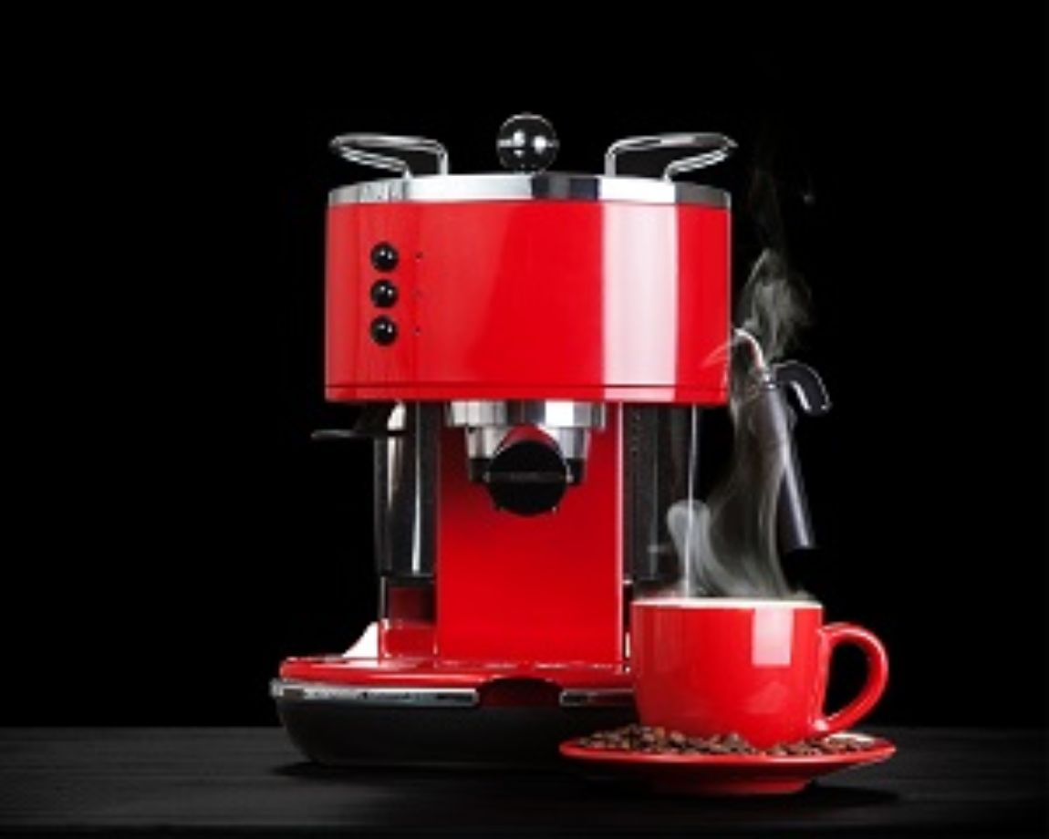 Red coffee machine: PERTEC CIP application example