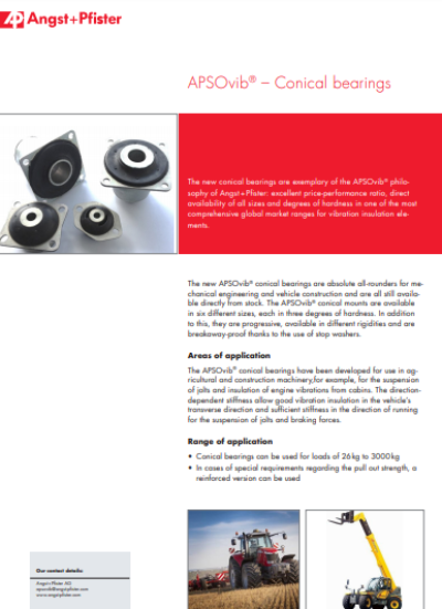 APSOvib® Conical Bearings flyer