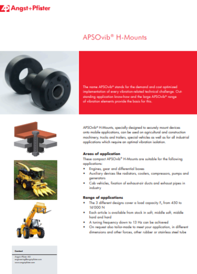 APSOvib® H-Mounts flyer