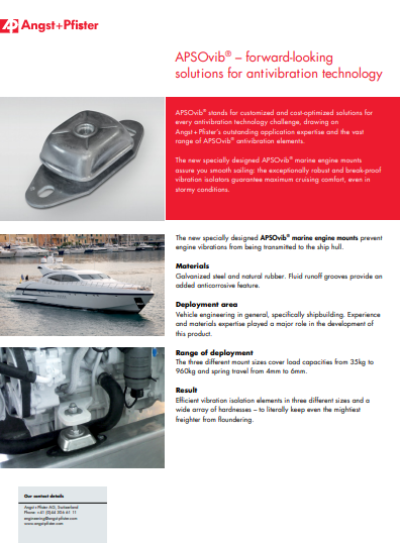 APSOvib® Marine Engine Mounts flyer