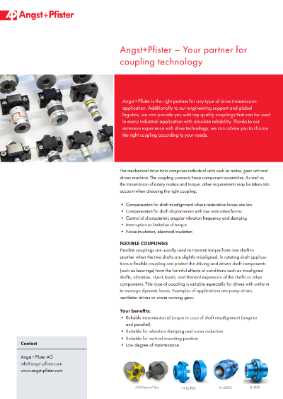 Angst+Pfister - Your Partner for Coupling Technology flyer