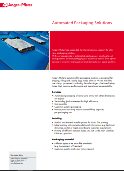 Automated Packaging Solutions flyer