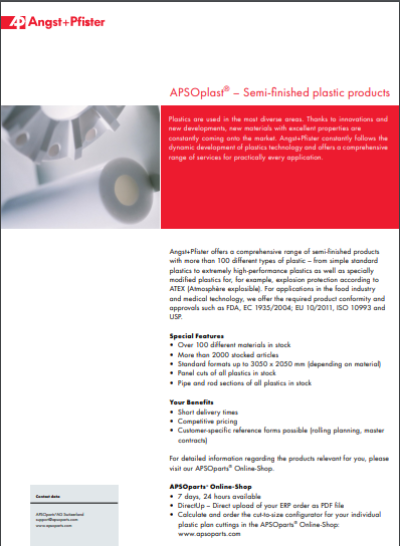 APSOplast® Semi-Finished plastics flyer