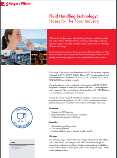 APSOfluid® Hoses for the Food Industry flyer