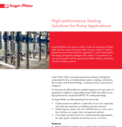 Sealing Solutions for Pump Applications flyer
