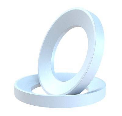 Machine finished plastics: white gasket in PTFE