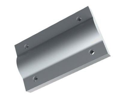 Plastic part made from PE-UHMW FR used as a protection element for machine and plant engineering and railway