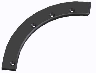 Plastic part made from PE-UHMW FR 2 black