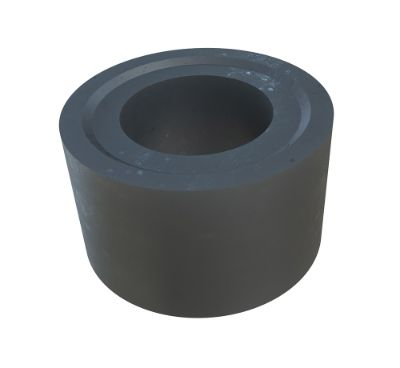 Machine finished part: Black POM-C cylinder with hole