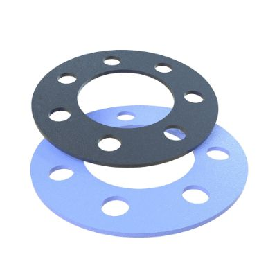 Black and blue punched flat gaskets