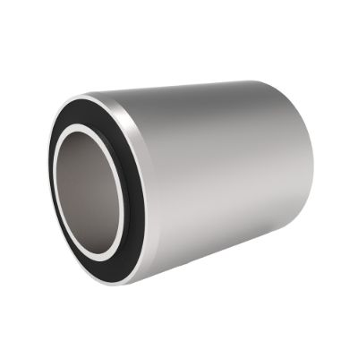 Vulcanized or pressed bushing for axles