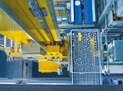 Supply chain at Angst+Pfister: industrial components in automatic storing facility