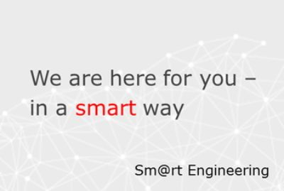 Angst+Pfister Smart Engineering Banner: We are here for you - in a smart way