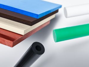 Semi-finished plastics: Rods and plates in different plastics materials