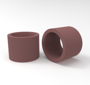 Red-brown bearing bush in PTFE HP 108