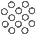 Evolast Icon: Chemical structure indicated with several circles